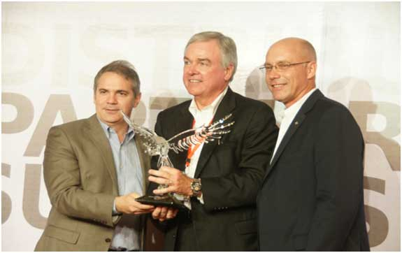 Molex presents TTI with distributor of the year award
