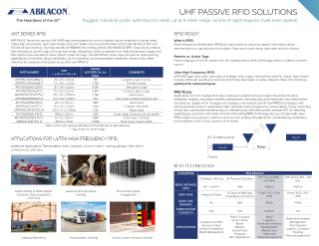 Abracon UHF Passive RFID Tag Solutions   TTI, Inc