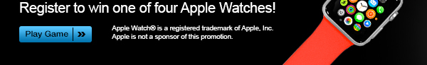 Register to win one of four Apple Watches!
